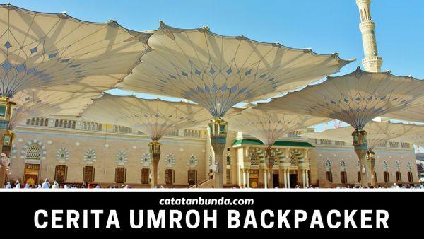 payung masjid nabawi di madinah - catatan bunda