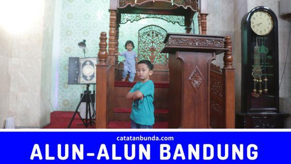 berpose di mihrab masjid agung bandung - catatan bunda