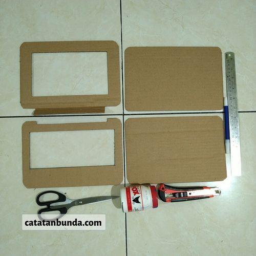 2 potong bahan laptop dengan alat sederhana - catatan bunda 2020