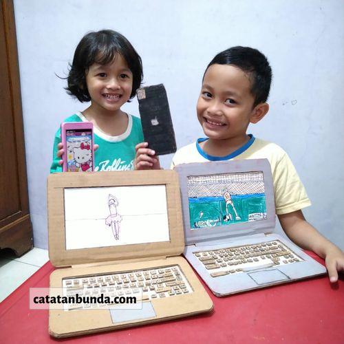 Laptop Mainan dari Kardus, Panduan Aktivitas Anak Seru di Bulan Puasa